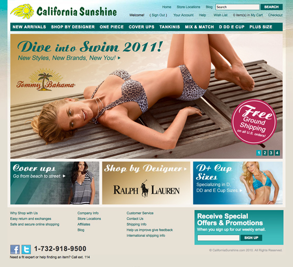 swimsuit web site design