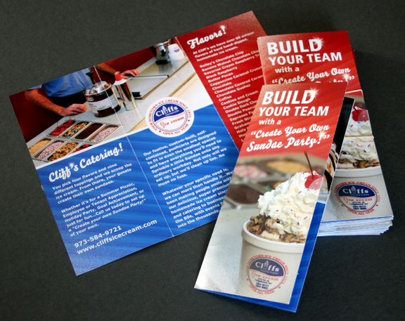 ice cream beautiful brochure design