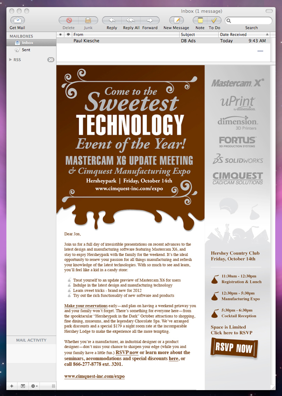 amazing event email design