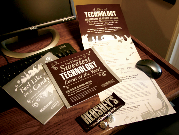 hershey event direct mail design