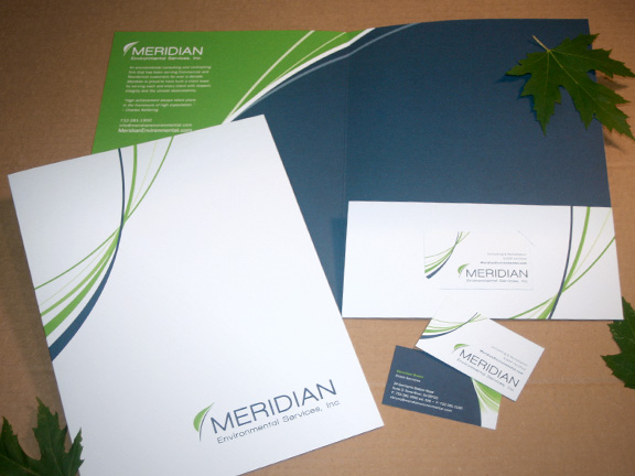 top folder design and business card design