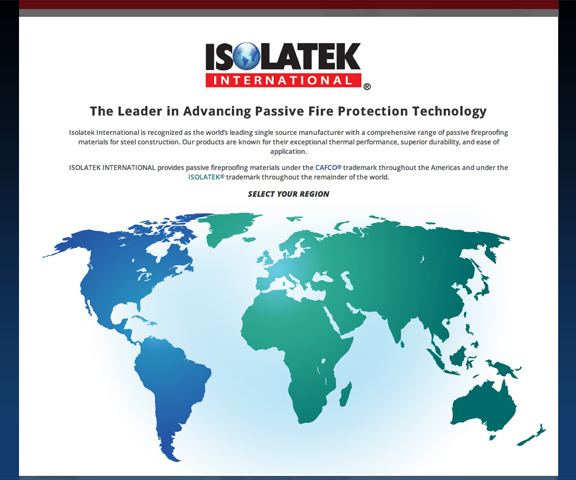 Isolatek global website design