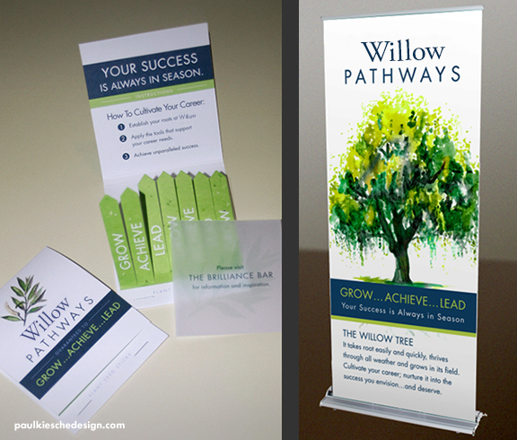 Custom matchbook design and retractable banner design