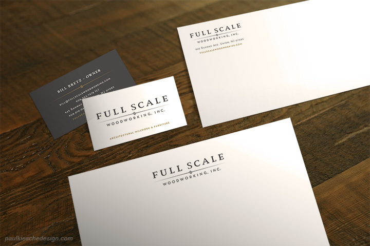 Full Scale Woodworking Stationery Design