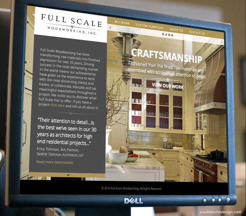 Full Scale Woodworking Website Design