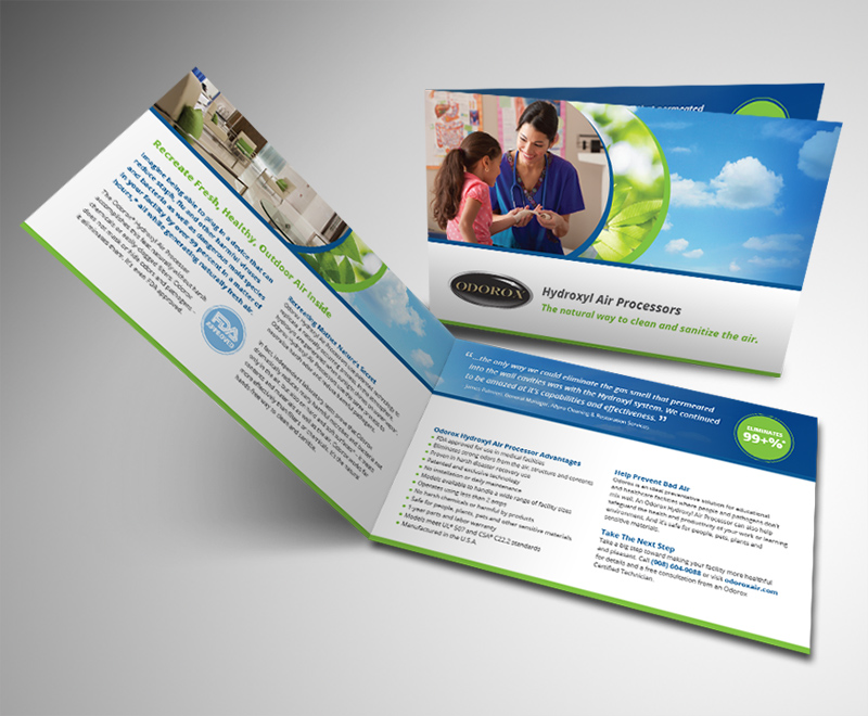 odorox air technology brochure design