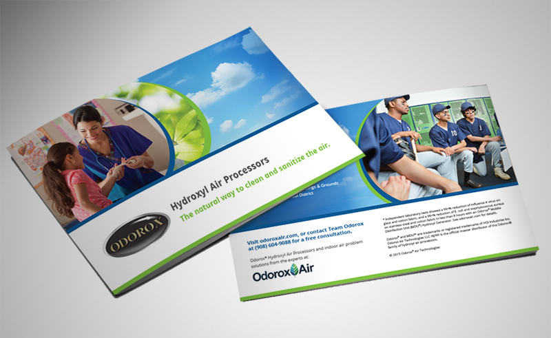 odorox air technology brochure designer